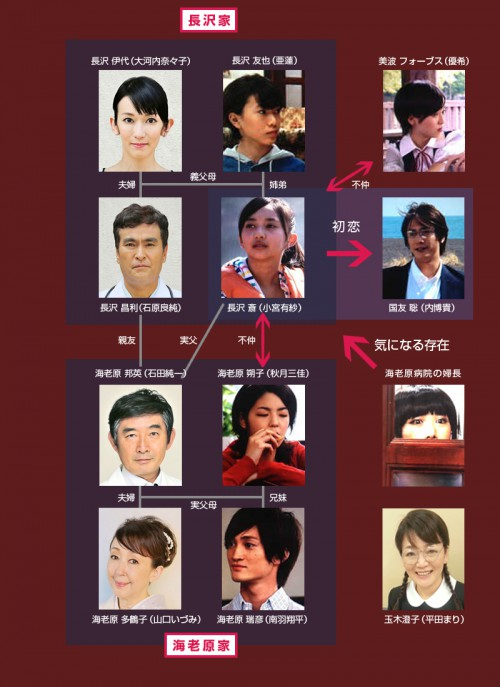 1x1.trans 昼ドラ『天国の恋』相関図(斎が高校生時代)、あらすじ