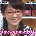 メガネ美人アナ唐橋ユミさんに注目!